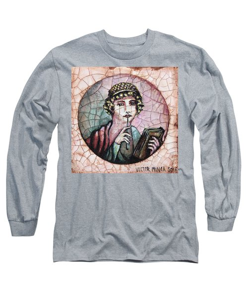 Girl, A Pompeian Miniature Painting Long Sleeve T-Shirt by Victor Minca