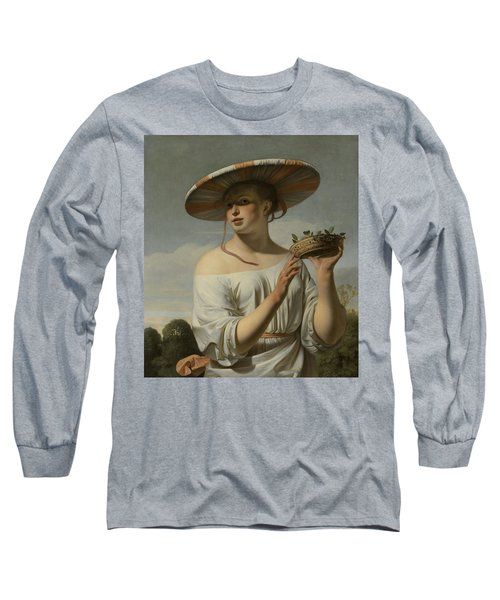 Girl In A Large Hat, C.1645-1650 Long Sleeve T-Shirt