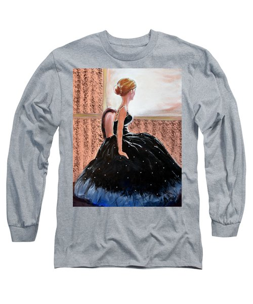 Girl In The Sequin Gown Long Sleeve T-Shirt