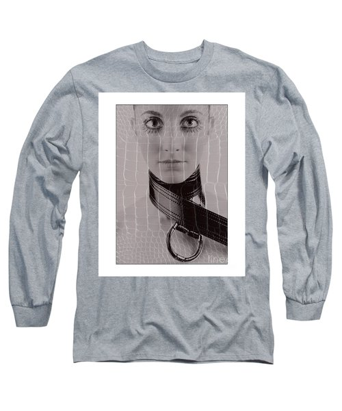 Girl With Big Eyes Long Sleeve T-Shirt by Michael Edwards