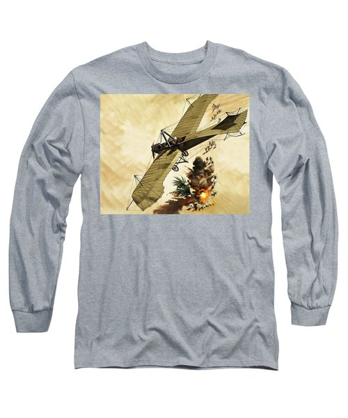 Giulio Gavotti Drops The First Bomb From A Plane Long Sleeve T-Shirt