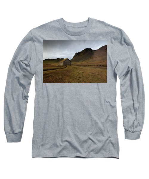 Give Me Shelter Long Sleeve T-Shirt by Allen Biedrzycki