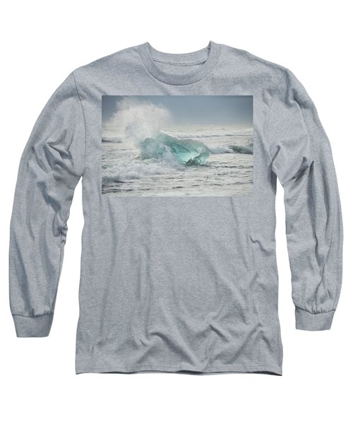 Glacial Iceberg In Beach Surf. Long Sleeve T-Shirt