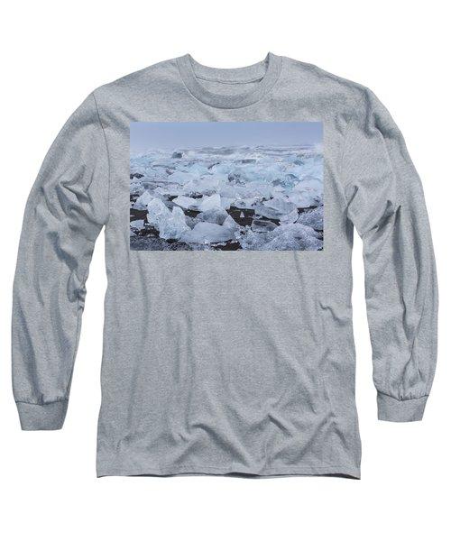Glacier Ice Long Sleeve T-Shirt by Kathy Adams Clark