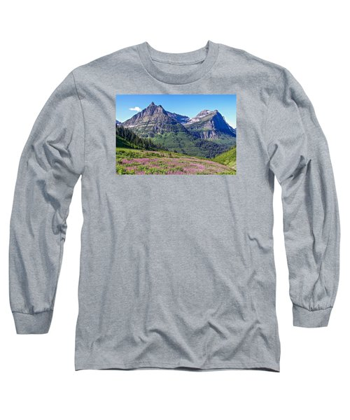 Long Sleeve T-Shirt featuring the photograph Glacier Park Bedazzeled by Susan Crossman Buscho