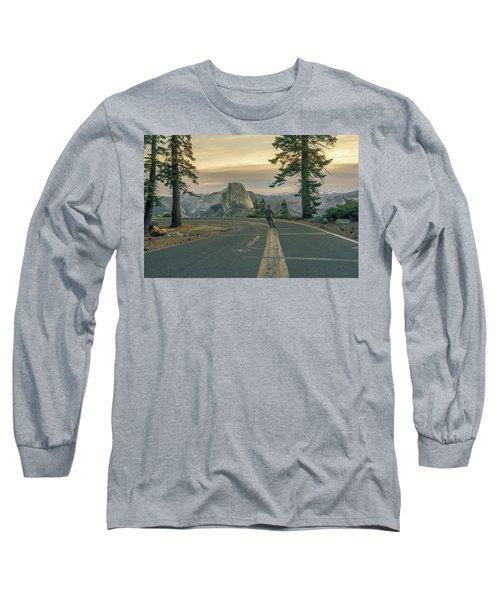 Glacier Point Adventure Long Sleeve T-Shirt by Alpha Wanderlust