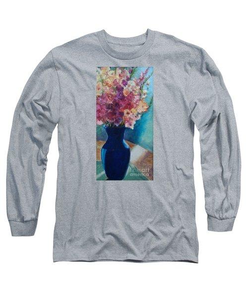 Gladioli-blue Long Sleeve T-Shirt