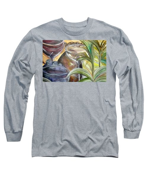 Glasses Grapes And Plants Long Sleeve T-Shirt