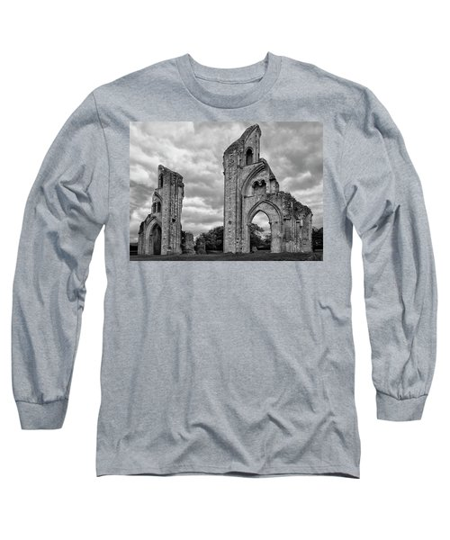 Long Sleeve T-Shirt featuring the photograph Glastonbury Abbey by Elvira Butler