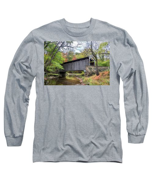 Glen Hope Covered Brige During Autumn Long Sleeve T-Shirt