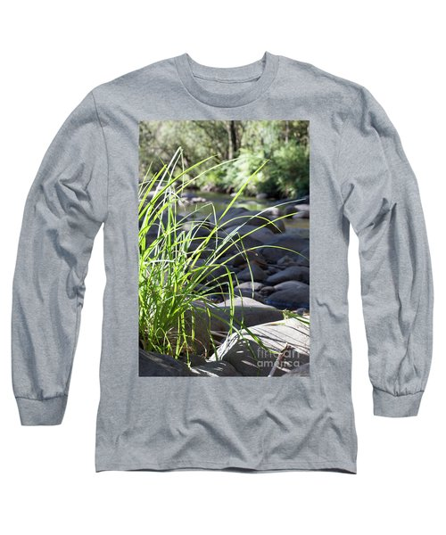 Glistening In The Sunlight Long Sleeve T-Shirt by Linda Lees