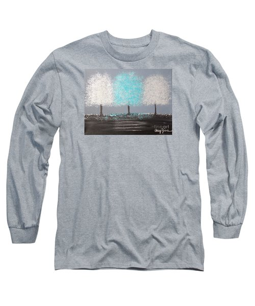 Long Sleeve T-Shirt featuring the painting Glistening Morning by Stacey Zimmerman