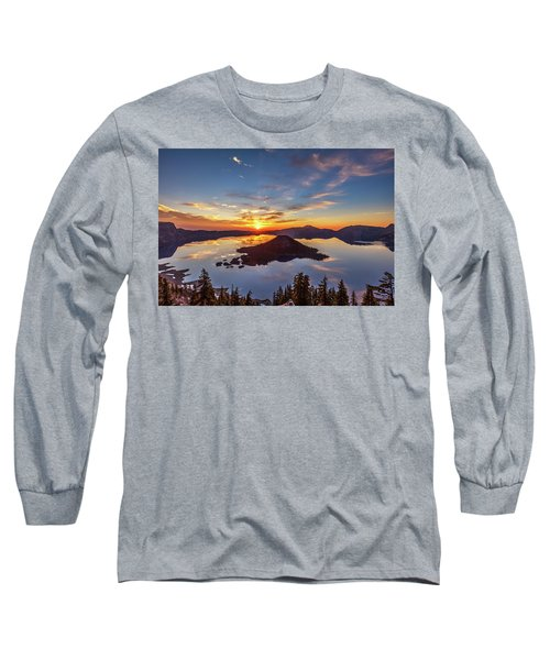 Long Sleeve T-Shirt featuring the photograph Glorious Crater Lake Sunrise by Pierre Leclerc Photography