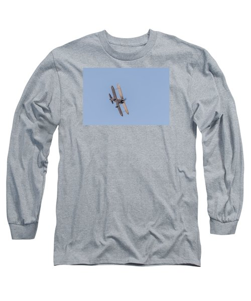 Gloster Gladiator  Long Sleeve T-Shirt by Gary Eason