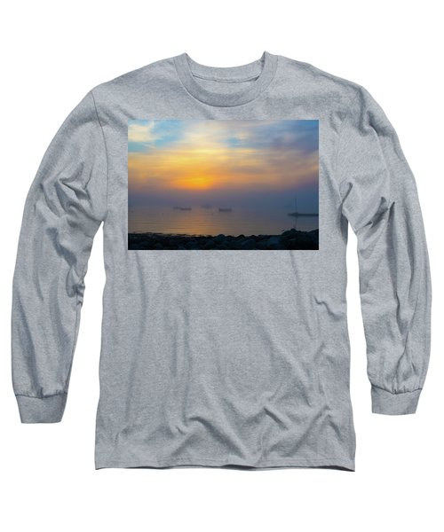 Gloucester Harbor Foggy Sunset Long Sleeve T-Shirt