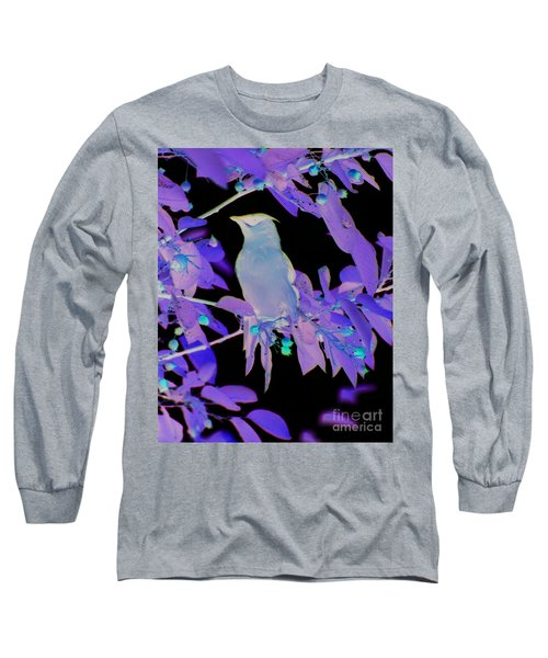 Long Sleeve T-Shirt featuring the photograph Glowing Cedar Waxwing by Smilin Eyes  Treasures