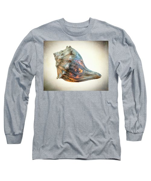 Glowing Conch Shell Long Sleeve T-Shirt by Gary Slawsky