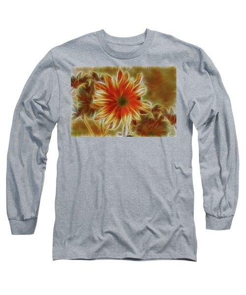 Glowing Flower Long Sleeve T-Shirt