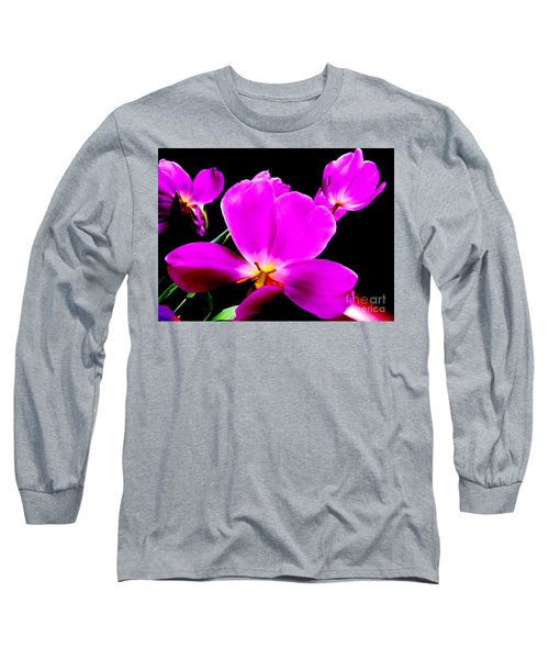 Glowing Tulips Long Sleeve T-Shirt by Tim Townsend