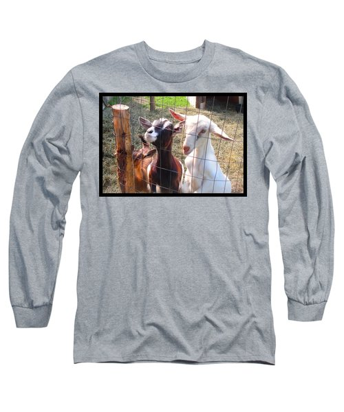 Goats Long Sleeve T-Shirt by Felipe Adan Lerma