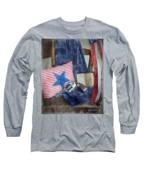 Long Sleeve T-Shirt featuring the photograph God, Guns And Old Glory by Benanne Stiens