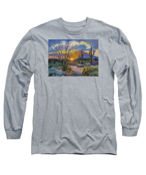 God's Day - Sonoran Desert Long Sleeve T-Shirt by Diane McClary