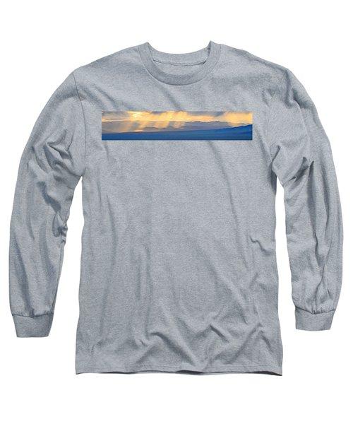 God's Rays Over The Great Basin  Long Sleeve T-Shirt
