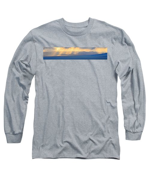 God's Rays Over The Great Basin  Long Sleeve T-Shirt
