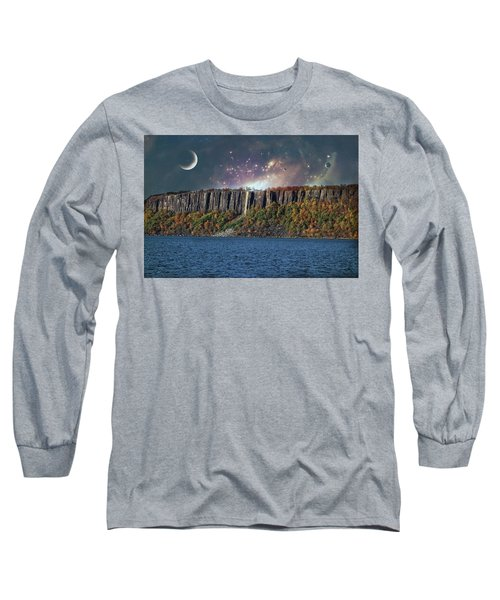 God's Space Over Planet Earth Long Sleeve T-Shirt