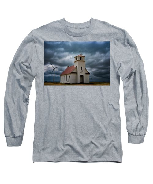 God's Storm Long Sleeve T-Shirt by Darren White