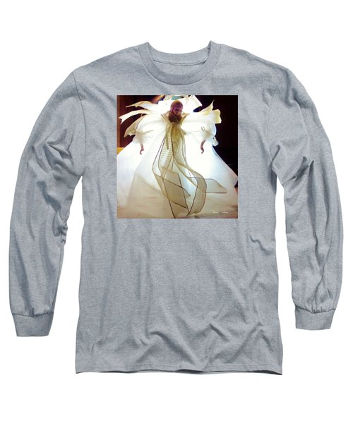 Gold And White Angel Long Sleeve T-Shirt