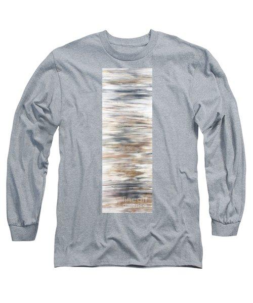 Gold Coast #20 Gold Landscape Original Fine Art Acrylic On Canvas Long Sleeve T-Shirt
