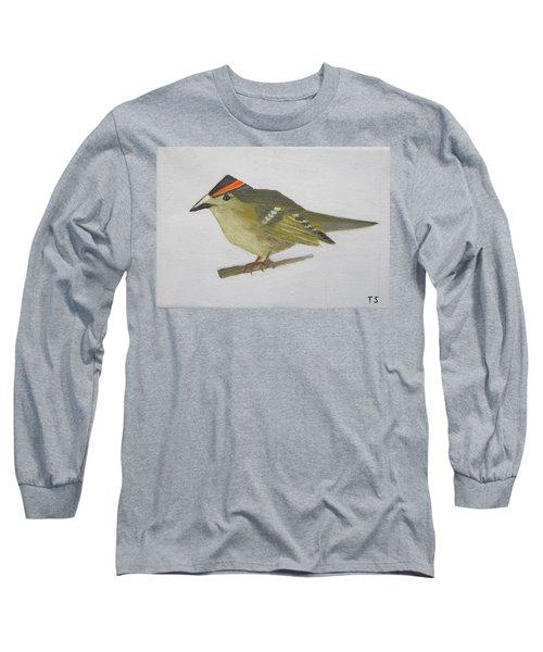 Goldcrest Long Sleeve T-Shirt by Tamara Savchenko
