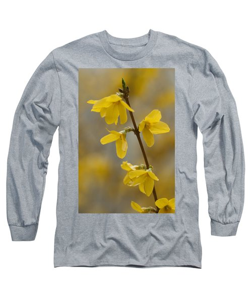 Golden Forsythia Long Sleeve T-Shirt