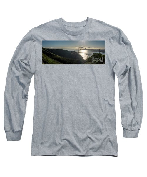 Golden Gate Bridge From The Road Up The Mountain Long Sleeve T-Shirt