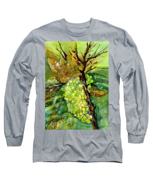 Golden Glowing Grapes  Long Sleeve T-Shirt