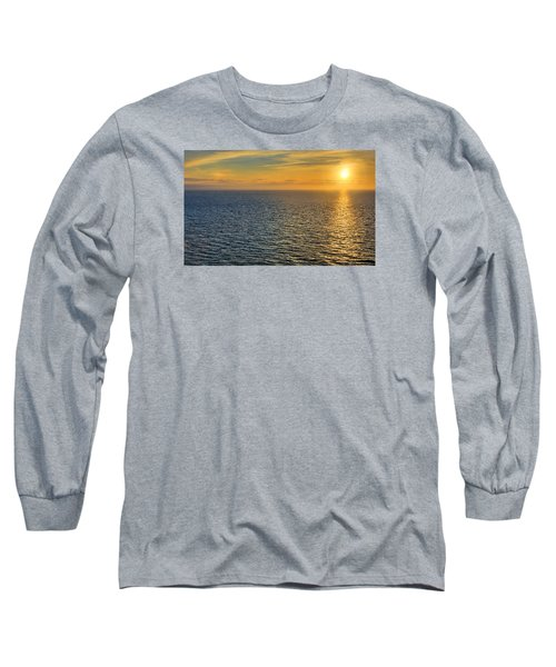 Golden Hour At Sea Long Sleeve T-Shirt by Lewis Mann