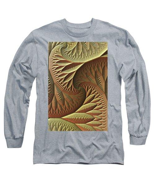 Long Sleeve T-Shirt featuring the digital art Golden by Lyle Hatch