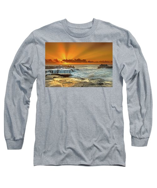 Golden Rays Long Sleeve T-Shirt by James Roemmling