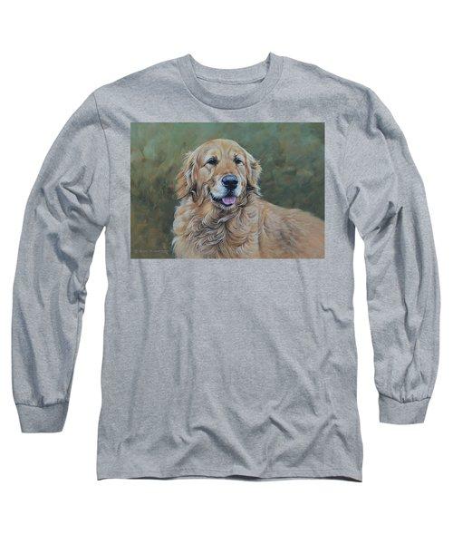 Golden Retriever Portrait Long Sleeve T-Shirt