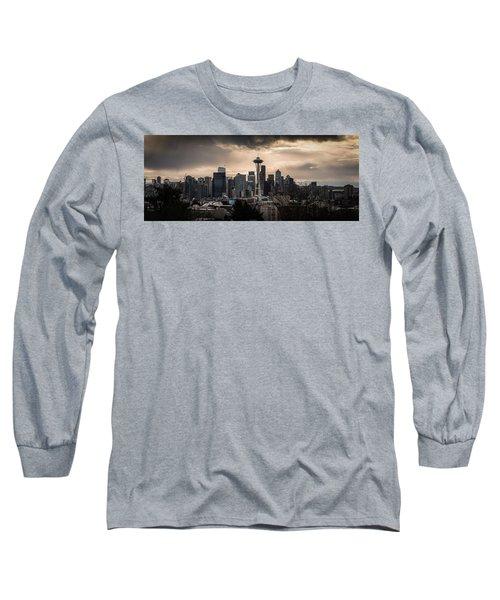 Golden Seattle Long Sleeve T-Shirt by Chris McKenna