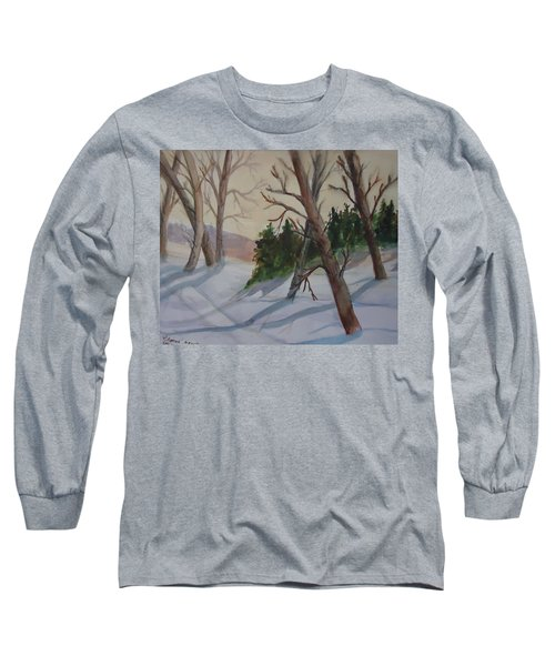 Golden Sky In The Snow Long Sleeve T-Shirt