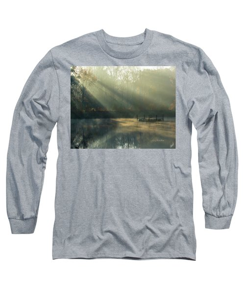 Long Sleeve T-Shirt featuring the photograph Golden Sun Rays by George Randy Bass