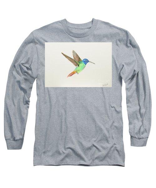 Golden-tailed Sapphire Long Sleeve T-Shirt