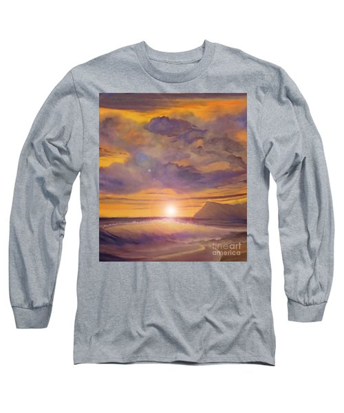 Golden Wave Long Sleeve T-Shirt by Holly Martinson