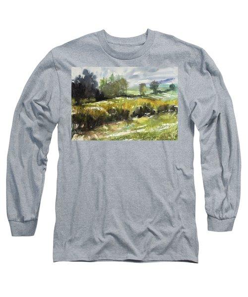 Goldenrod On The Lane Long Sleeve T-Shirt