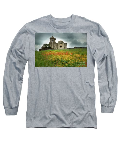 Goliad In Spring Long Sleeve T-Shirt by Jon Holiday