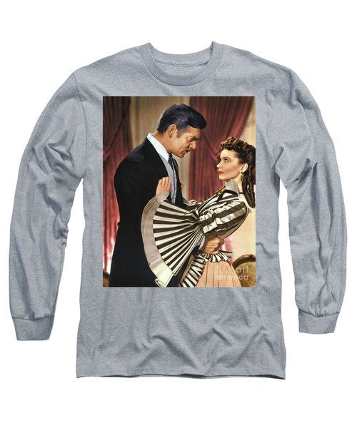 Gone With The Wind - 1939 - Completely Retouched In Color Long Sleeve T-Shirt
