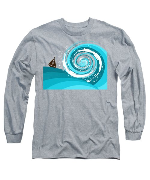 Long Sleeve T-Shirt featuring the digital art Gonna Need A Bigger Boat by Shawna Rowe