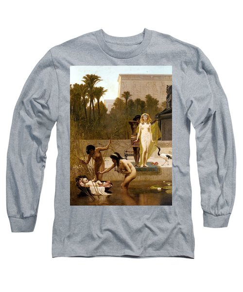 Goodall Frederik The Finding Of Moses Long Sleeve T-Shirt by Frederick Goodall